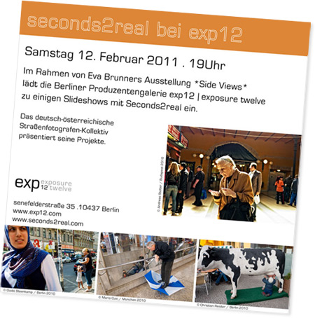 Seconds2Real at exp12 Gallery, Berlin