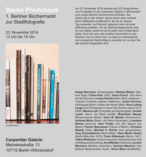 Berlin Photobook 1. Berliner Büchermarkt zur Stadtfotografie