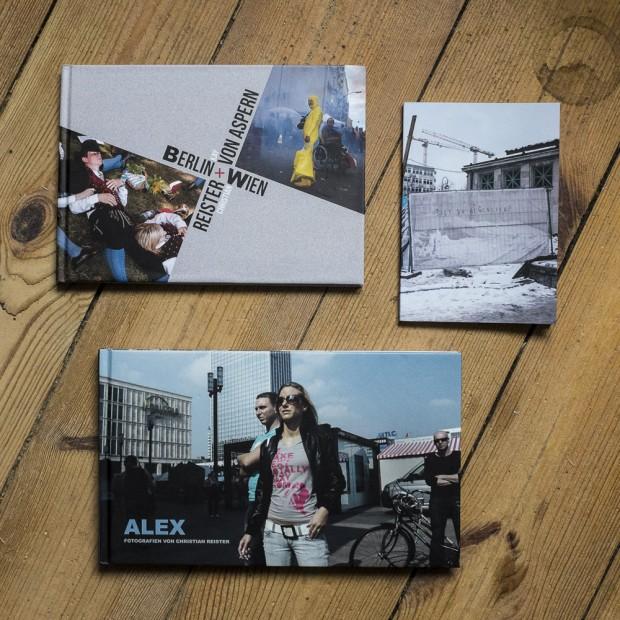 photobooks by Christian Reister: Berlin-Wien, Bist du Glücklich?, ALEX