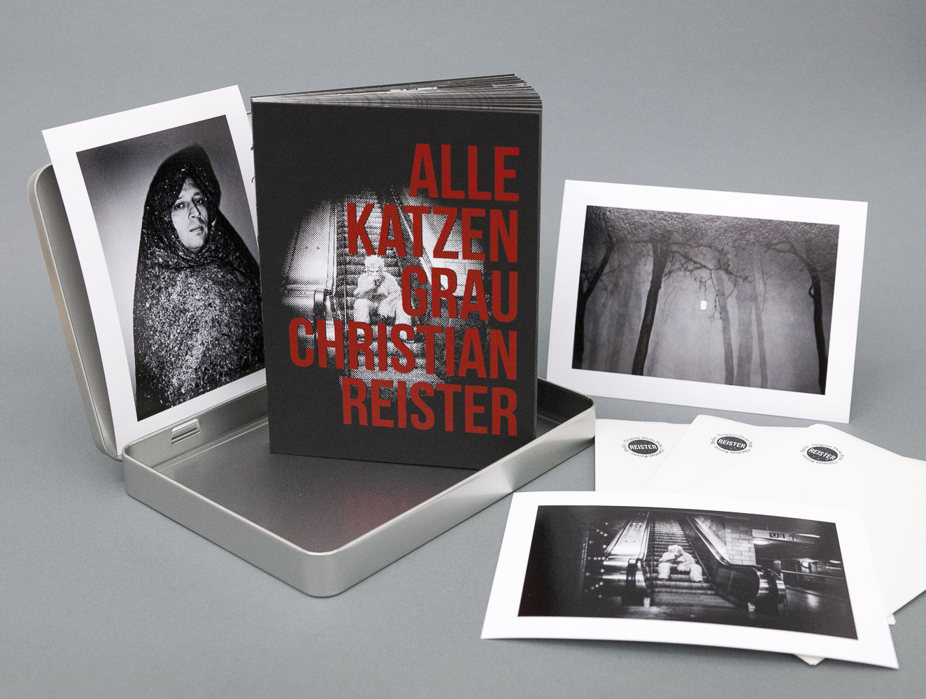 Alle Katzen Grau - Limited Edition Collector's Box in Metal Box + 3 Prints