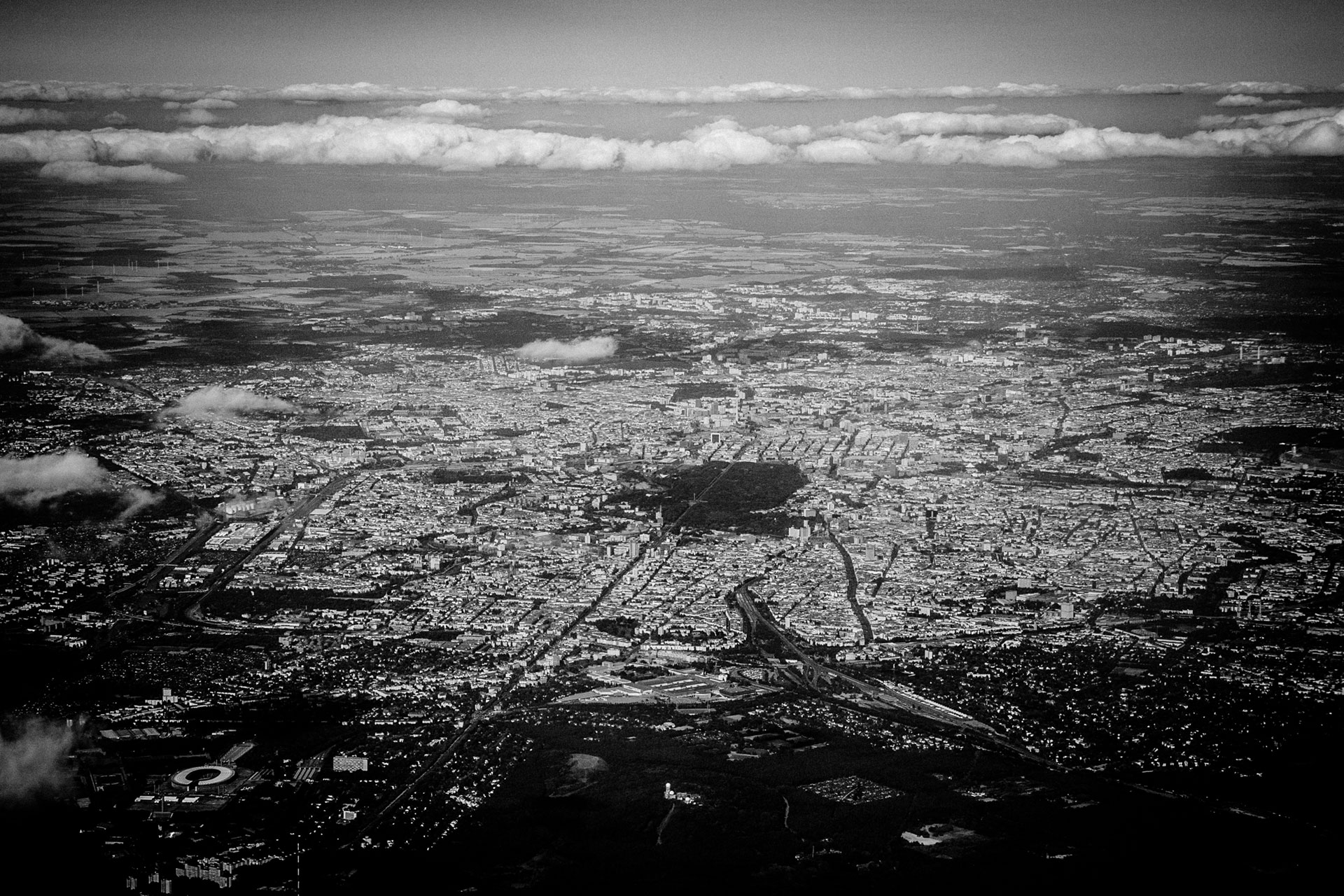 Berlin Arial View, 2015, Fine Art Photopint on Hahnemühle Baryta